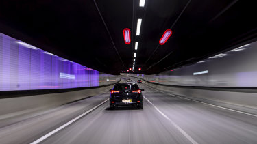 The M8 tunnel (duplicating the M5 East) opened to motorists last July as part of the second stage of WestConnex.