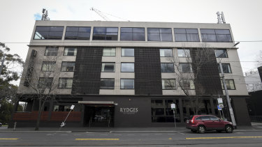 Rydges on Swanston hotel, a major source of Victoria's second-wave COVID-19 cases.