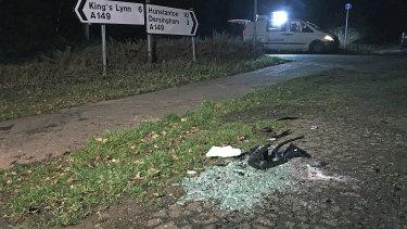 The crash scene near Sandringham Estate.