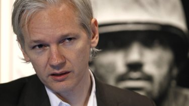 WikiLeaks founder Julian Assange speaks at a news conference in London in 2010.