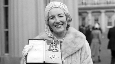 Vera Lynn in 1975 when she was made a Dame Commander of the British Empire.