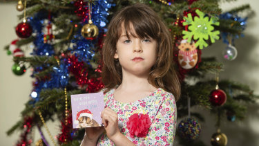 Florence Widdicombe, who found a message was already written in a card her family had bought from Tesco.