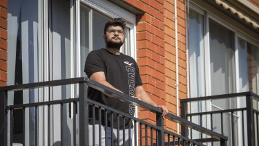 Hanish, who lives in a neighbouring apartment, witnessed the fire.