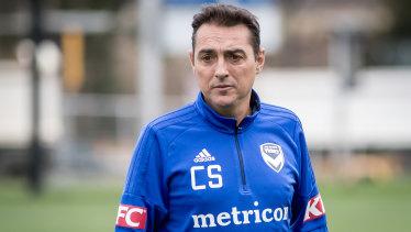 Melbourne Victory assistant coach Carlos Perez Salvachua.