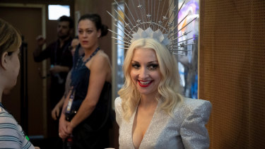 Kate Miller-Heidke, backstage at Expo Tel Aviv  just prior to her first rehearsal.