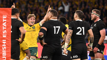 Michael Hooper was instrumental in the Wallabies win over the All Blacks in Perth... without David Pocock.