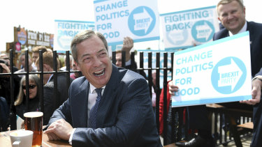 Nigel Farage's Brexit Party has surged in the polls.
