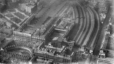 The Euston railway station from above in 1936.