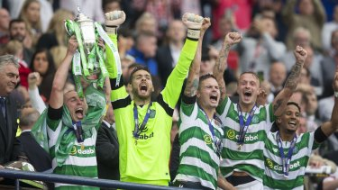 Decorated: Brown has lifted no shortage of silverware in his time at the Scottish giants.