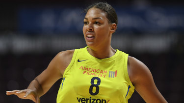 Liz Cambage has been traded to Las Vegas in the WNBA.