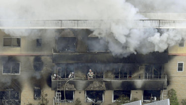 Kyoto police said the fire broke out on Thursday morning, local time, after a man burst in, spread and set fire to unidentified liquid.