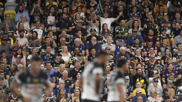 The fans could be returning to the footy in larger numbers.
