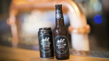 CUB says its no-alcohol Carlton Zero beer recorded more than $10 million in sales in its first 12 months on the market.