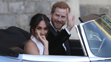 The Duke and Duchess leave for their evening reception.