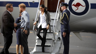 Meghan Markle stepped off the plane in Dubbo in September 2018 wearing  Outland Denim and sparking worldwide sales for the brand.
