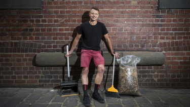 Richard Squires is on a mission to pick up as many cigarette butts as he can.