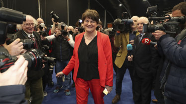 Leader of the Democratic Unionist Party Arlene Foster in December.