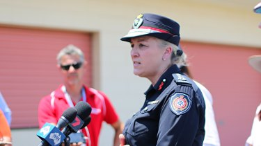 Queensland Fire and Emergency Services commissioner Katarina Carroll in Kabra on Thursday.
