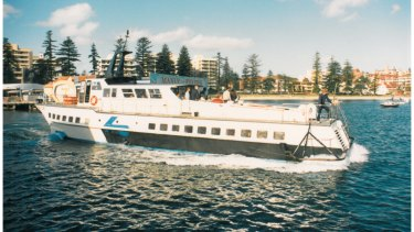 The Curl Curl hydrofoil in Manly in the 1980s.