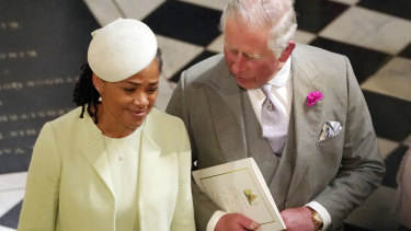 Prince Charles and Doria Ragland, Meghan's mother.