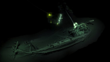 A 3D image of the world's oldest intact shipwreck, found in the Black Sea
