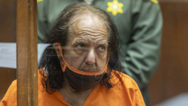 Adult film star Ron Jeremy appears for his arraignment on rape and sexual assault charges in June 2020.