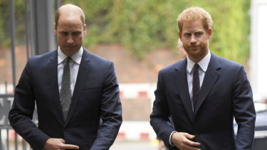 Prince William and Prince Harry in September 2017.