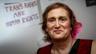 Transgender Victoria media representative Sally Goldner.