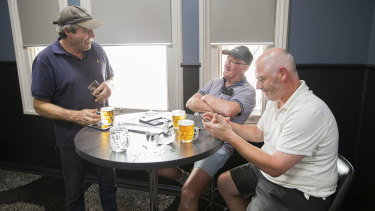 Locals enjoy some beers at Euroa Hotel, 50 kilometres south of Shepparton.