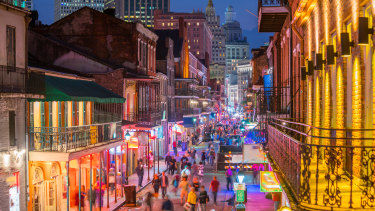 Pubs and bars with neon lights in the French Quarter, New Orleans USA. Could our artificial lights be doing us damage?