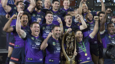 Chance at history: the Melbourne Storm are attempting to become the first team to win back-to-back titles in the NRL era.