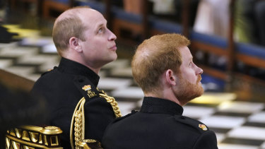 Princes William and Harry won't stand next to each other at Prince Philip's funeral.
