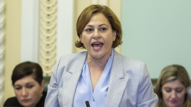 "Ms Trad made an ""unreserved apology"" in the house for not declaring  on time the Woolloongabba home her husband bought."