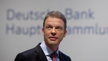 Deutsche Bank chief Christian Sewing spoke to staff at the company's London office.