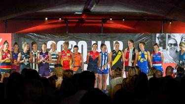 Captains at the AFLW season launch this week.