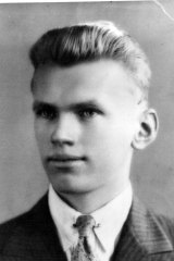 Olaf Perkman as a young man.
