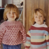 Three-year-old Jessie (left) and Clare in 1994.