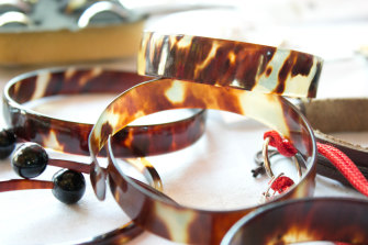 Tortoiseshell products like these are sold widely in South America and the Caribbean.