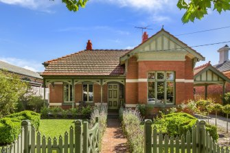 The house at 55 Seymour Road, Elsternwick before demolition work began.