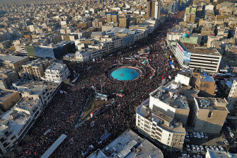 Huge crowds thronged Tehran's streets for the funeral.