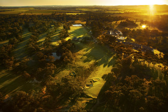 The Tanunda Pines Golf Course, where Adelaide's players have allegedly breached social distancing guidelines in quarantine.