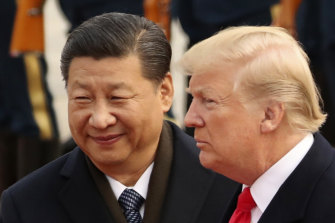 China's President XI Jinping with Donald Trump in 2017.