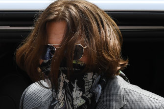Johnny Depp outside court this week.