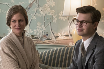Nicole Kidman and Ansel Elgort in The Goldfinch: 'I can see my mother staring back at me.'