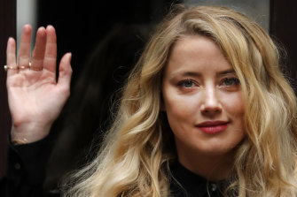 Amber Heard arrives at the High Court in London on Tuesday.