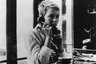 Jean Seberg as Patricia Franchini in Jean-Luc Godard's Breathless.