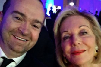 Former Studio Ten executive producer Robert McKnight with Ita Buttrose