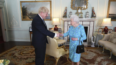 Queen Elizabeth welcomes newly elected leader of the Conservative party, Boris Johnson.