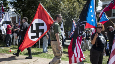 White supremacists in Charlottesville last August.