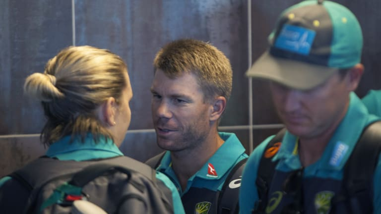 In the firing line: David Warner's team-mates have turned on him.